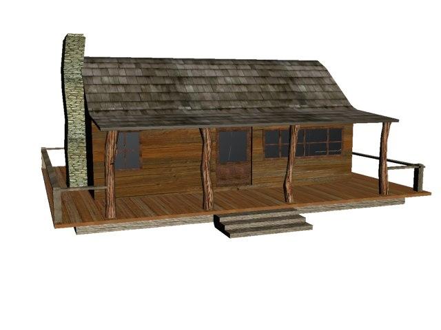 3ds max lodge cabin