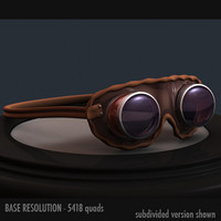 world war goggles 3d model