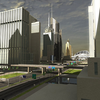 cityscape city 3d 3ds