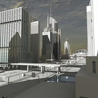 High Definition 3D City 2008_02_No Texture.zip