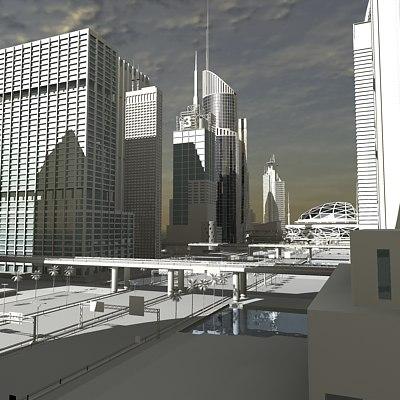 3ds cityscape city