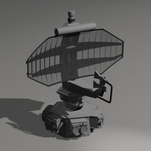 medium range radar 3d model
