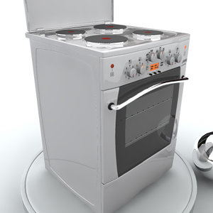 free electric oven 3d model