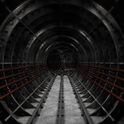 3d model of underground rail tunnel