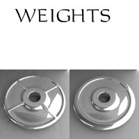 3d dxf dumbell weight dumb