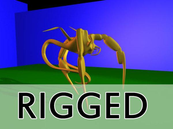 rigged creature max
