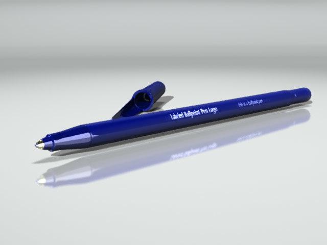 3d ballpoint pen model
