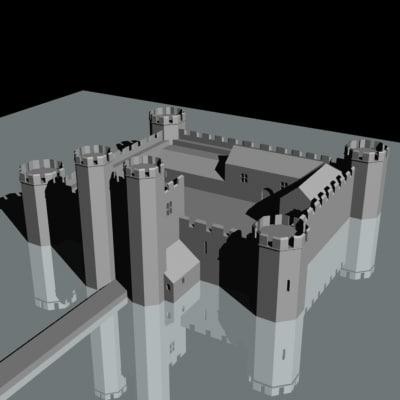 castle maxtoke 3d model