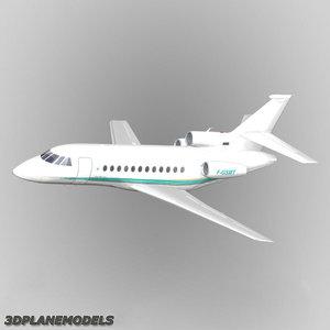 dassault falcon livery 3d model