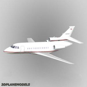 dassault falcon private livery 3d max