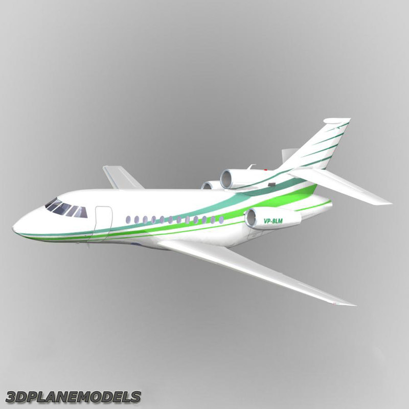dassault falcon business jet 3d model
