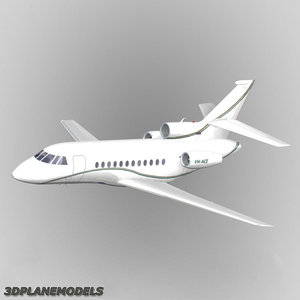 3d model dassault falcon business jet