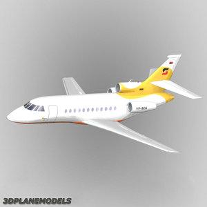dassault falcon business jet 3d lwo