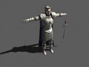 human knight medieval 3d max