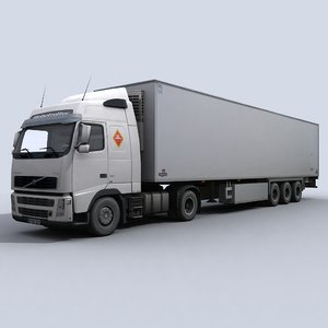 refrigerated transport truck 3ds