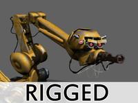 Cartoony Industrial Robot Rigged