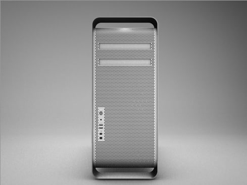 3d apple mac pro tower model