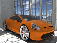 MITSUBISHI ECLIPSE CONCEPT-E AND STAGE PROP B VER. 2007