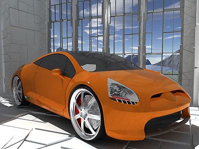 mitsubishi concept-e car stage 3d model