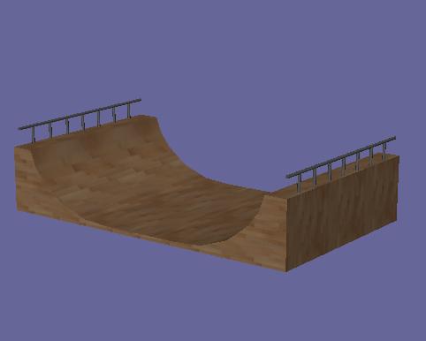 3d model halfpipe ramp