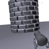 3d cannon wall