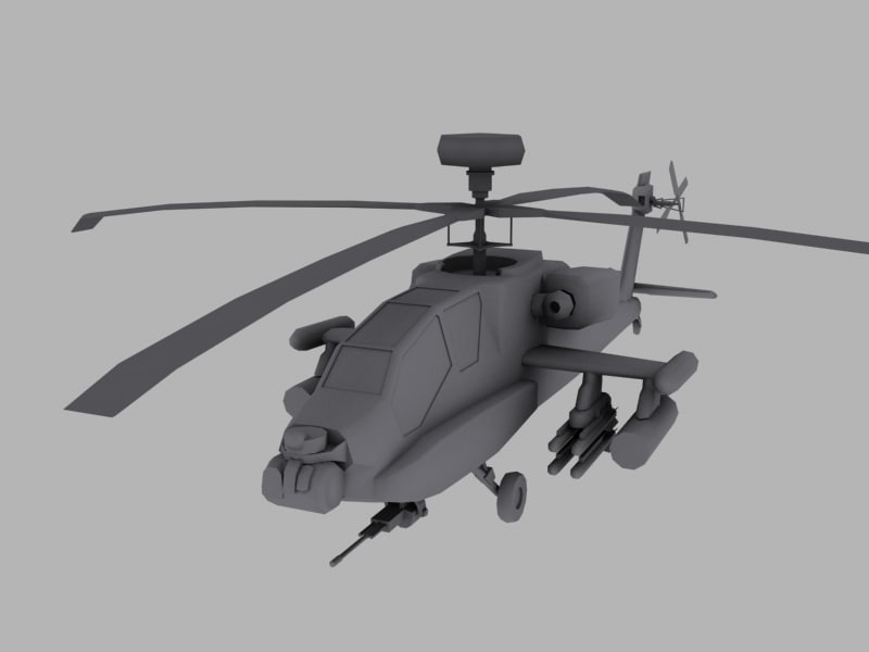 3d model apache longbow helicopter