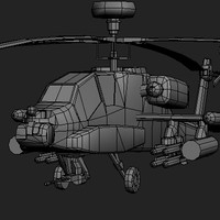 apache longbow 3d model