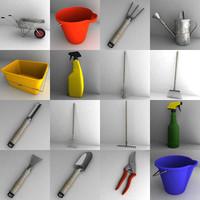 garden tools large 3d model