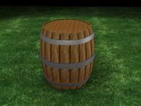 free max model wooden barrel
