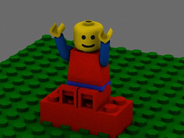 3ds max lego man
