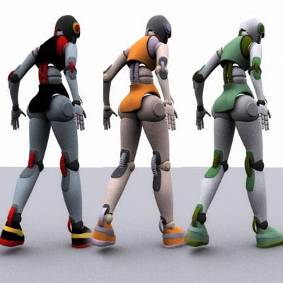 colored robeca robot 3d model