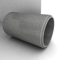 concrete pipe.obj