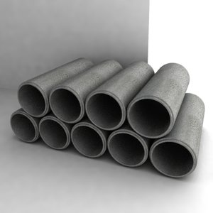 concrete pipes dxf