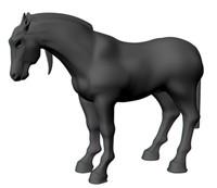 3d Maya Horse Model
