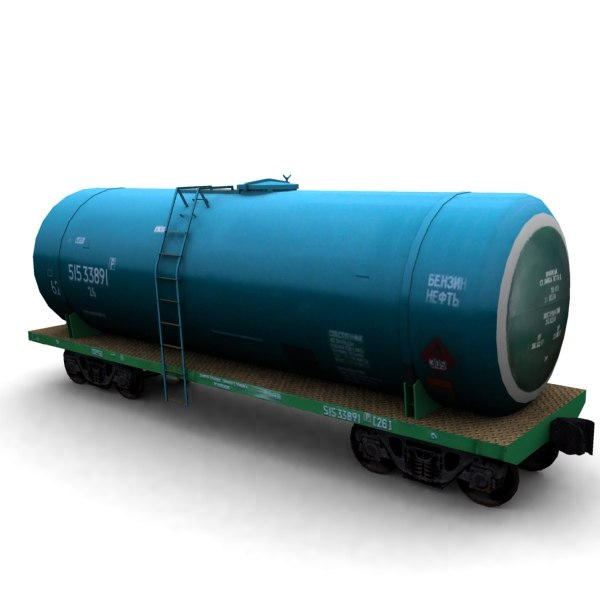 railroad cistern 3d model