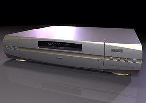 3d model dvd cd player versions