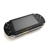 3d playstation portable console model