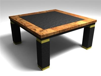 leather table 3d max