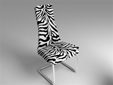 3d model chair zebra