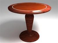 free table wood 3d model