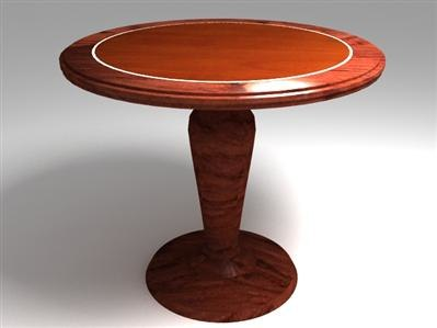 free table wood 3d model