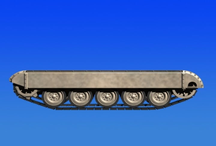 3d model of tank tracks