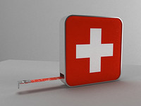 mini-tape measure swiss style 3d max