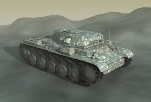 3d german panzer tank