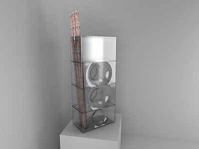 kadid 27 tall glass vase 3d model