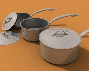 cookware steel viking sauce 3d max