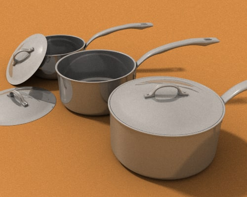 cookware steel viking sauce 3d max