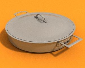 3d cookware steel viking casserole