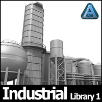 industrial library 1 3d model