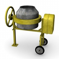 3ds max cement mixer